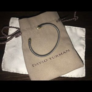 David Yurman 4MM Kids Cable Bracelet Aquamarine